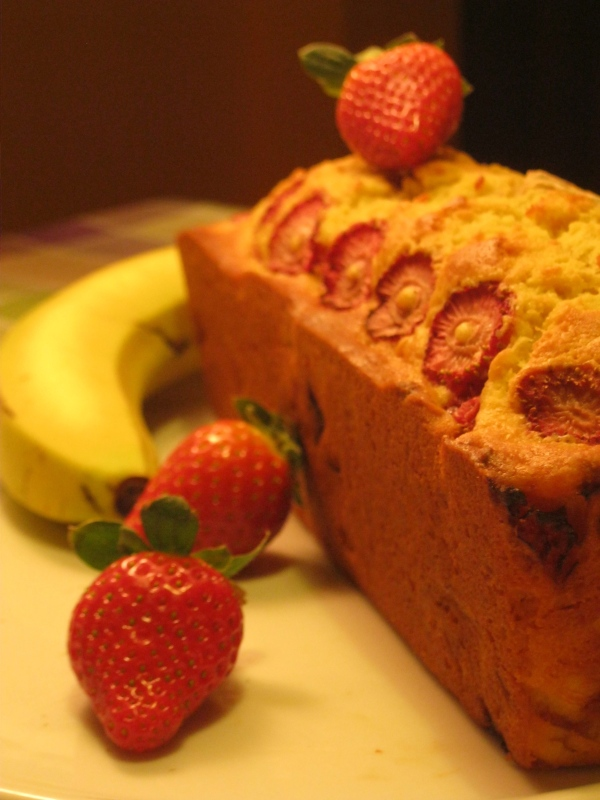 strawberry and banana bread