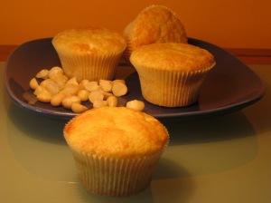 Noci di macadamia nei muffins