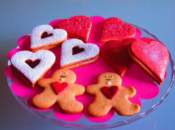 Shortbread Valentine's day cookies