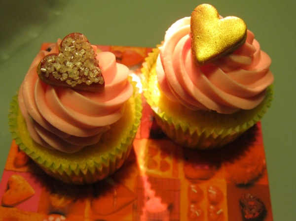 Cupcake all'acqua di rosa