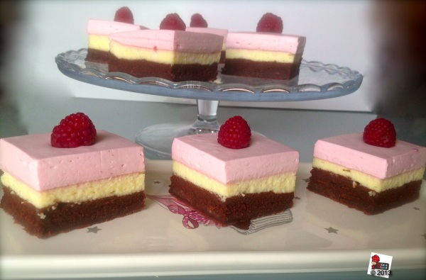 Raspberrie Brownie Cheesecake