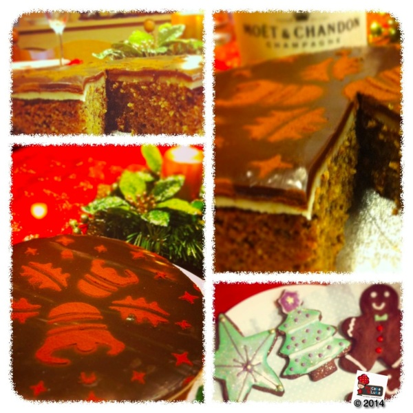 Xmas chocolate and hazelnuts torte