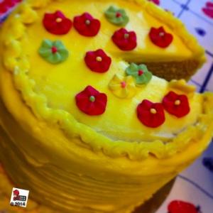 torta al cioccolato bianco e passion fruit curd