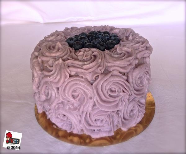 Torta Mirtilli e lavanda