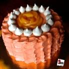 Ombre cake alla pesca, cioccolato e amaretto: http://wp.me/p2x5x0-1dc