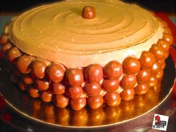 Torta a strati cioccolato e malto