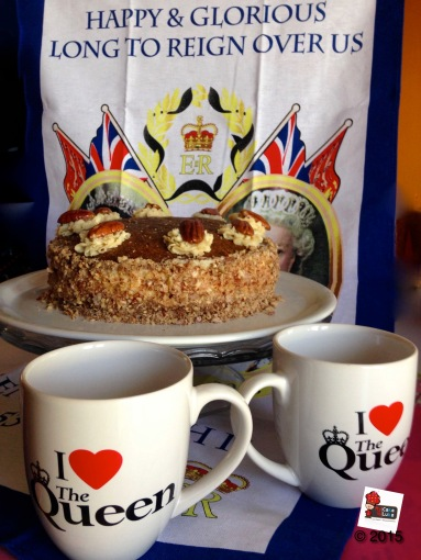 Torta caffé e noci pralinata