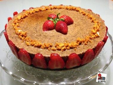 Cheesecake al cioccolato e fragole http://wp.me/p2x5x0-1gN