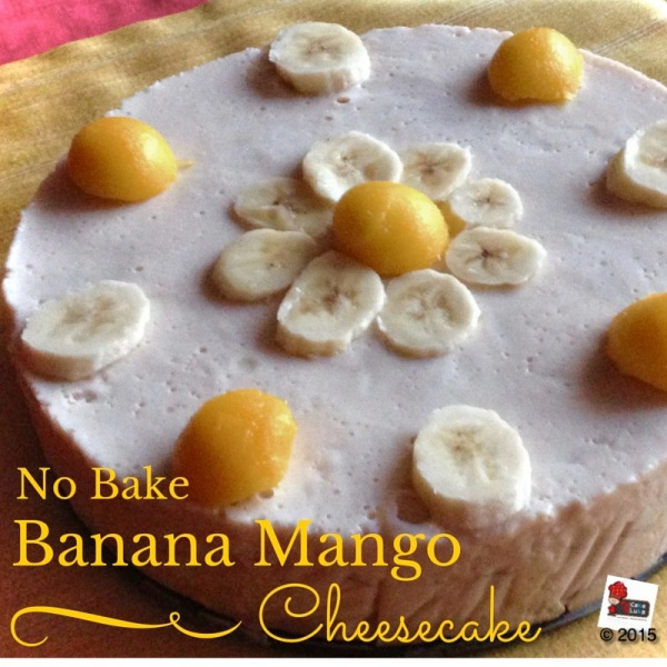 No Bake Banana Mango Cheescake (1)