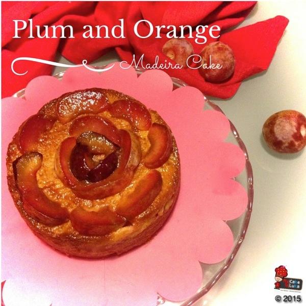 PlumOrang Madeira cake