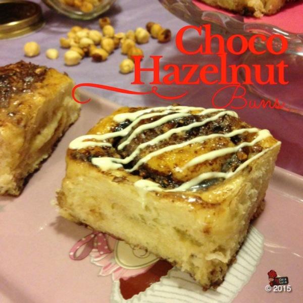 Choco hazelnut buns